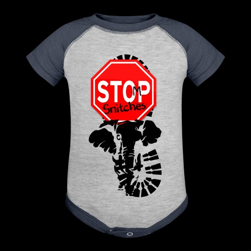 STOMP SNITCHING - Contrast Baby Bodysuit