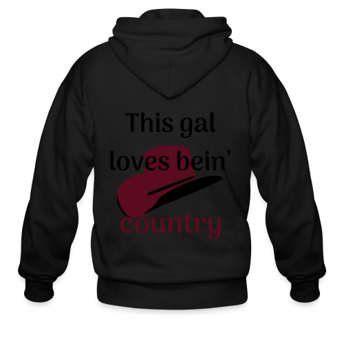 This Gal Loves Bein' Country - Men's Zip Hoodie