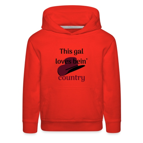 This Gal Loves Bein' Country - Kids' Premium Hoodie