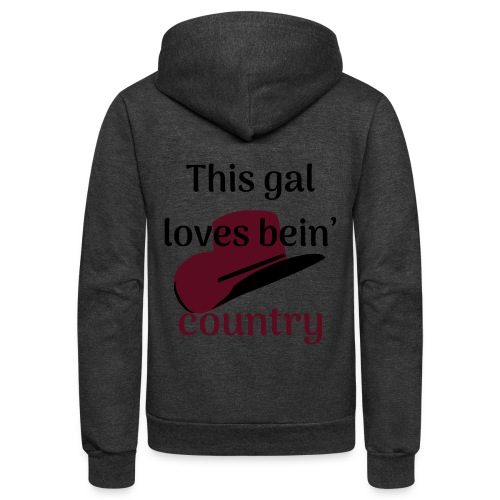 This Gal Loves Bein' Country - Unisex Fleece Zip Hoodie
