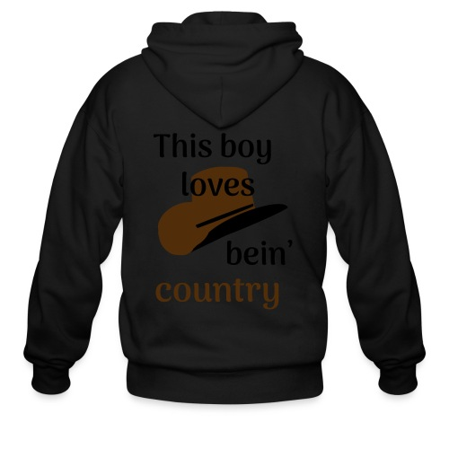 This Boy Loves Bein' Country - Men's Zip Hoodie
