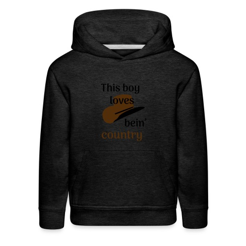 This Boy Loves Bein' Country - Kids' Premium Hoodie
