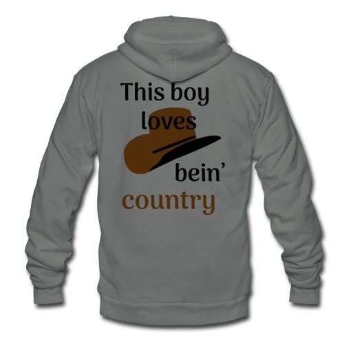 This Boy Loves Bein' Country - Unisex Fleece Zip Hoodie