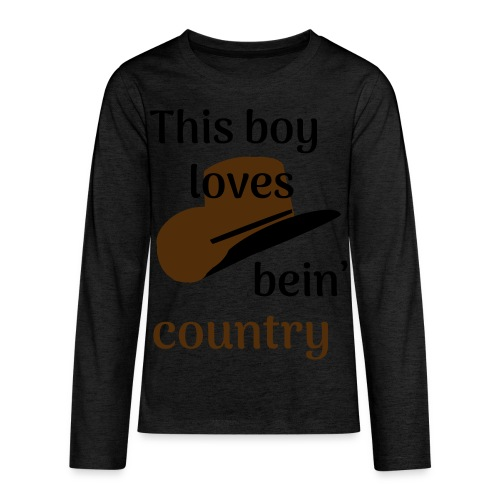 This Boy Loves Bein' Country - Kids' Premium Long Sleeve T-Shirt