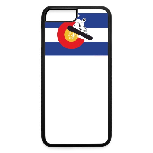 Colorado Flag and Snow Skier-Snowboarder - iPhone 7 Plus/8 Plus Rubber Case