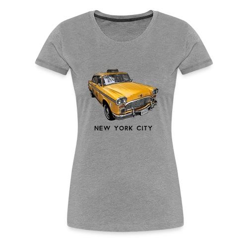 New York City Classic Checker Taxi Cab Big Apple N - Women's Premium T-Shirt