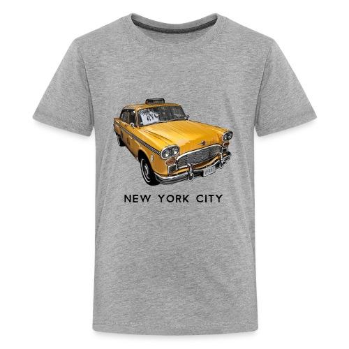 New York City Classic Checker Taxi Cab Big Apple N - Kids' Premium T-Shirt