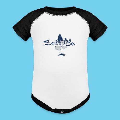 Men's Swim Life Tank - Contrast Baby Bodysuit