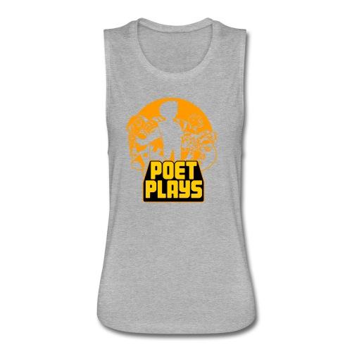 PoetPlays RETRO - Women's Flowy Muscle Tank by Bella