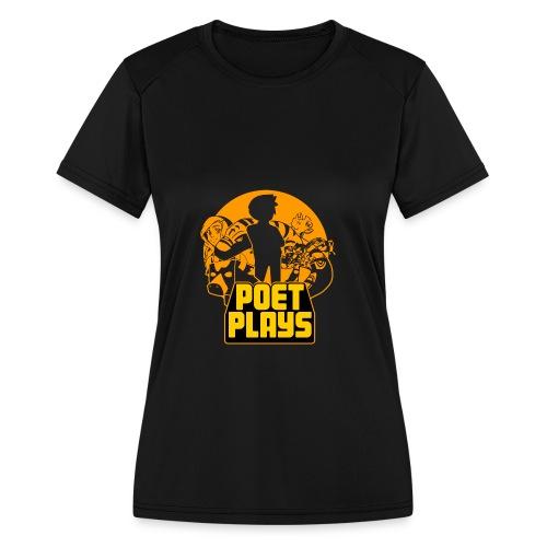 PoetPlays RETRO - Women's Moisture Wicking Performance T-Shirt