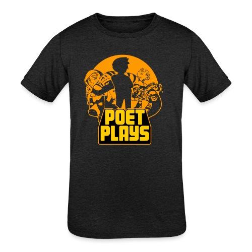 PoetPlays RETRO - Kids' Tri-Blend T-Shirt