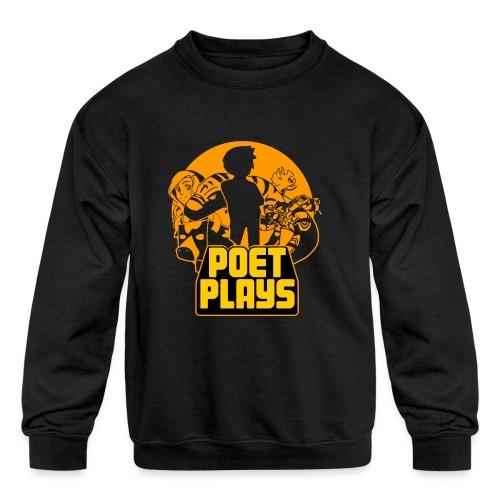PoetPlays RETRO - Kids' Crewneck Sweatshirt