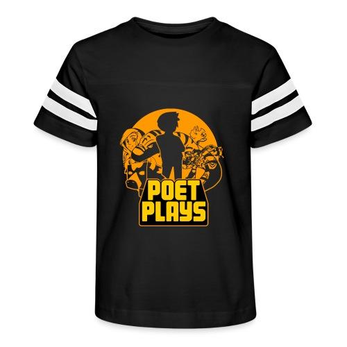 PoetPlays RETRO - Kid's Vintage Sport T-Shirt