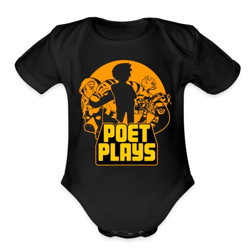 PoetPlays RETRO - Organic Short Sleeve Baby Bodysuit
