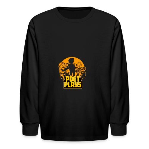 PoetPlays RETRO - Kids' Long Sleeve T-Shirt