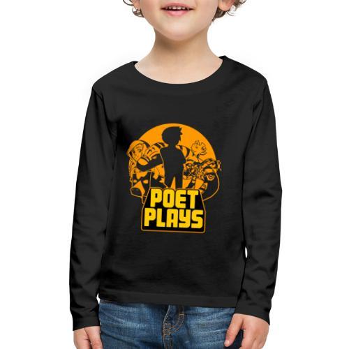 PoetPlays RETRO - Kids' Premium Long Sleeve T-Shirt