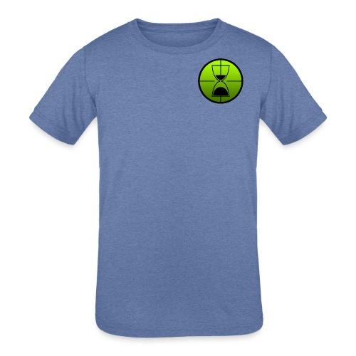 TimeShot Badge Logo - Kids' Tri-Blend T-Shirt