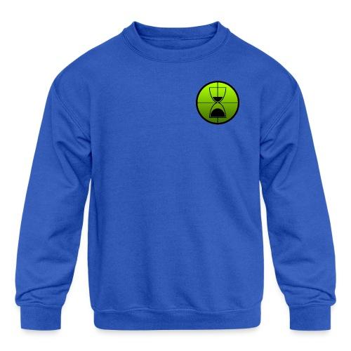 TimeShot Badge Logo - Kids' Crewneck Sweatshirt