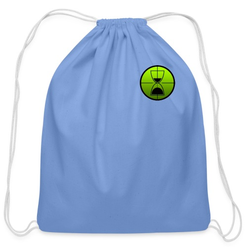 TimeShot Badge Logo - Cotton Drawstring Bag