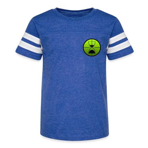 TimeShot Badge Logo - Kid's Vintage Sport T-Shirt
