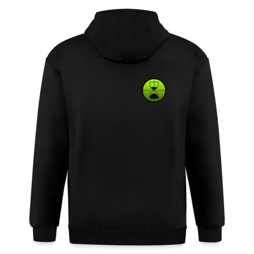 TimeShot Badge Logo - Men's Zip Hoodie