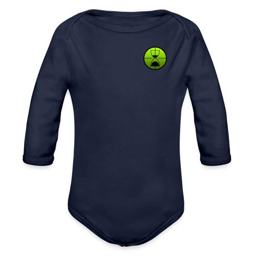 TimeShot Badge Logo - Organic Long Sleeve Baby Bodysuit