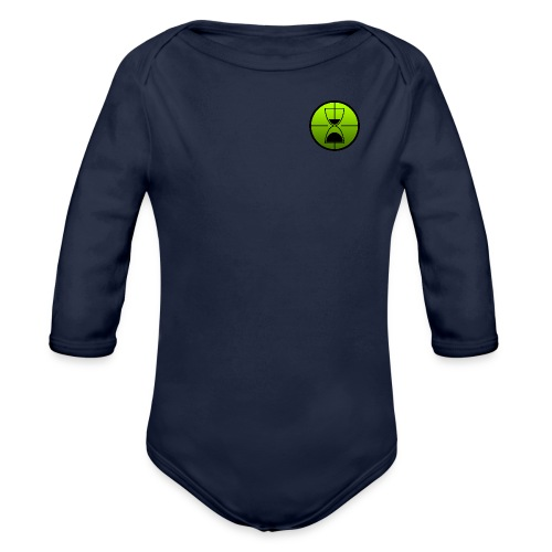 TimeShot Badge Logo - Organic Long Sleeve Baby Bodysuit