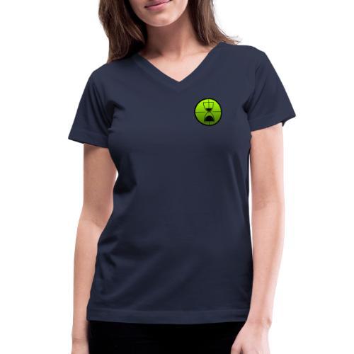 TimeShot Badge Logo - Women's V-Neck T-Shirt