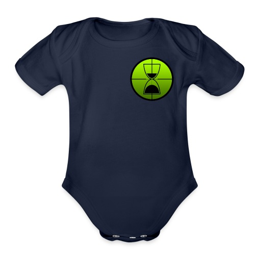 TimeShot Badge Logo - Organic Short Sleeve Baby Bodysuit