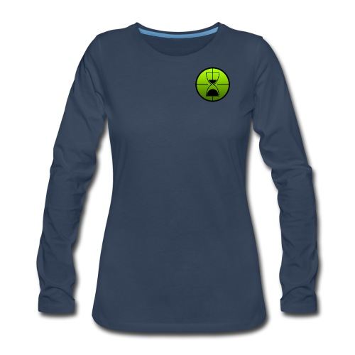 TimeShot Badge Logo - Women's Premium Long Sleeve T-Shirt