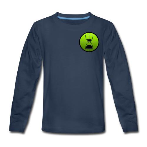 TimeShot Badge Logo - Kids' Premium Long Sleeve T-Shirt