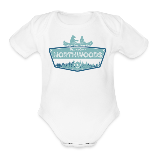 Northwoods GetAway - Organic Short Sleeve Baby Bodysuit