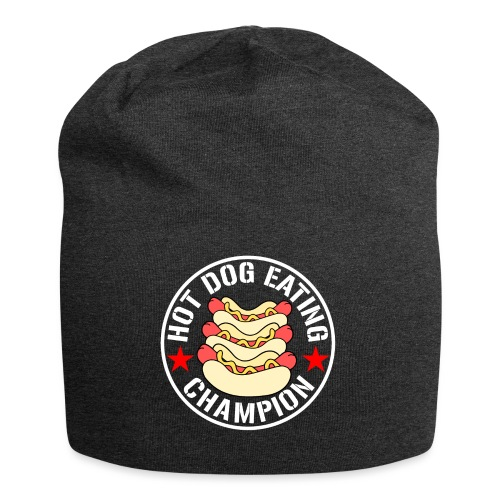 Hot Dog Eating Champion funny shirt - Jersey Beanie