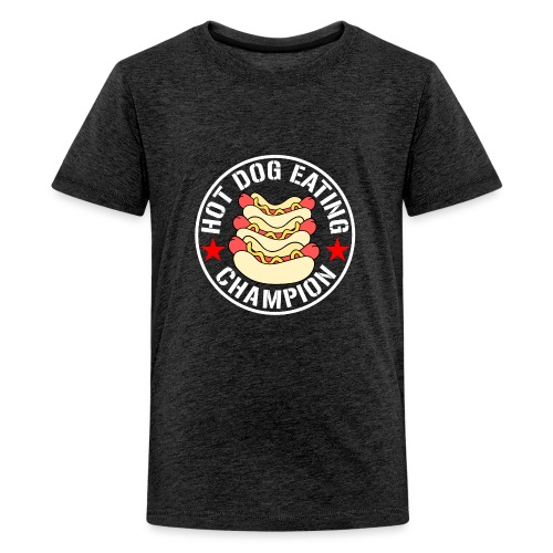 Hot Dog Eating Champion funny shirt - Kids' Premium T-Shirt