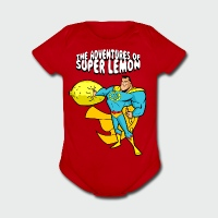 The Adventures of Super Lemon - Short Sleeve Baby Bodysuit