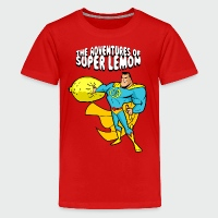 The Adventures of Super Lemon - Kids' Premium T-Shirt