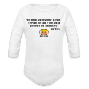 Preparing with Bear Bryant - Long Sleeve Baby Bodysuit