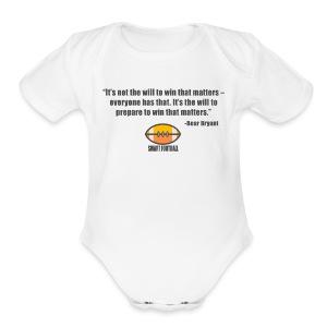 Preparing with Bear Bryant - Short Sleeve Baby Bodysuit