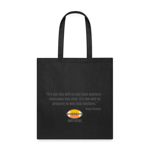 Preparing with Bear Bryant - Tote Bag
