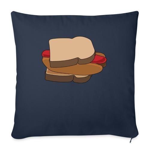 """Hot Dog Sandwich - Throw Pillow Cover 18"""" x 18"""""""
