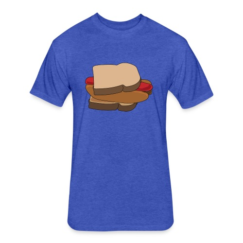 Hot Dog Sandwich - Fitted Cotton/Poly T-Shirt by Next Level