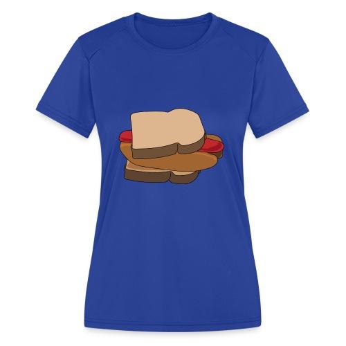 Hot Dog Sandwich - Women's Moisture Wicking Performance T-Shirt