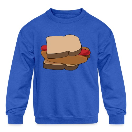 Hot Dog Sandwich - Kids' Crewneck Sweatshirt