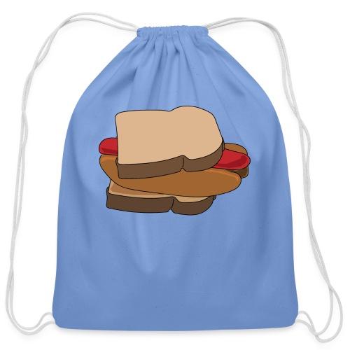 Hot Dog Sandwich - Cotton Drawstring Bag