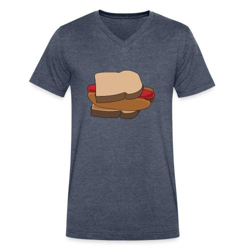 Hot Dog Sandwich - Men's V-Neck T-Shirt by Canvas