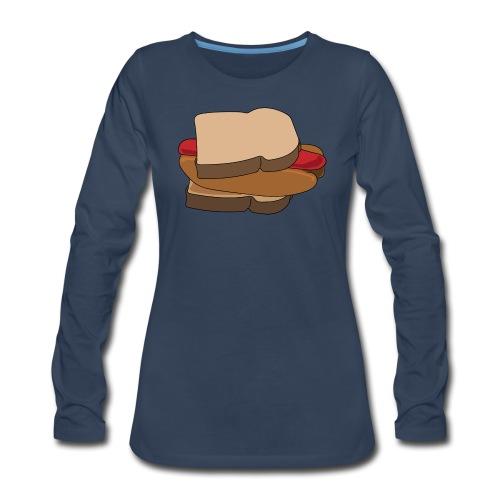 Hot Dog Sandwich - Women's Premium Long Sleeve T-Shirt