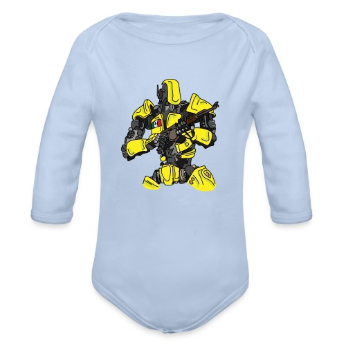 Assassin Android - Organic Long Sleeve Baby Bodysuit