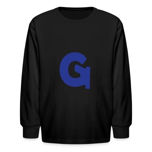 Gun Channels Logo - Blue - Kids' Long Sleeve T-Shirt