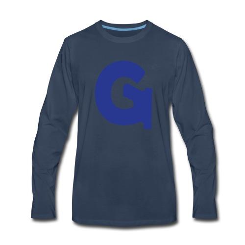 Gun Channels Logo - Blue - Men's Premium Long Sleeve T-Shirt