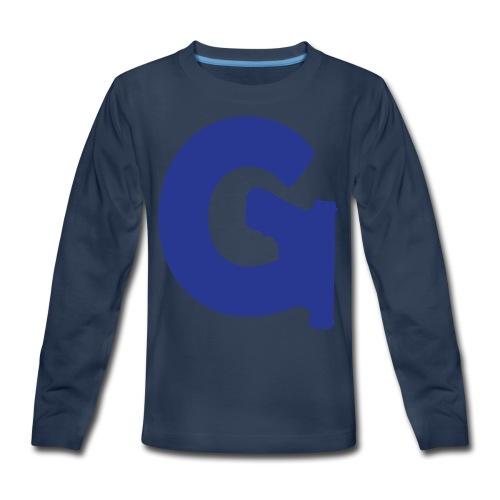 Gun Channels Logo - Blue - Kids' Premium Long Sleeve T-Shirt